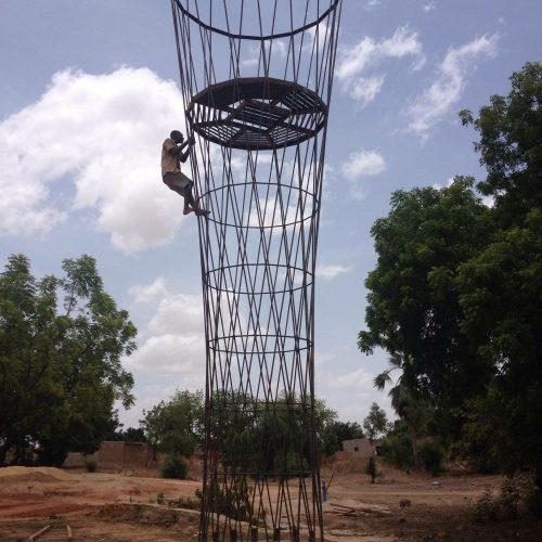 Aufstellung des Wasserturmes