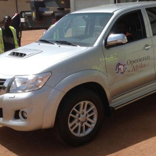 Unser Container mit medizinischen Materialien für die nächsten Hilfsorganisationen ist angekommen