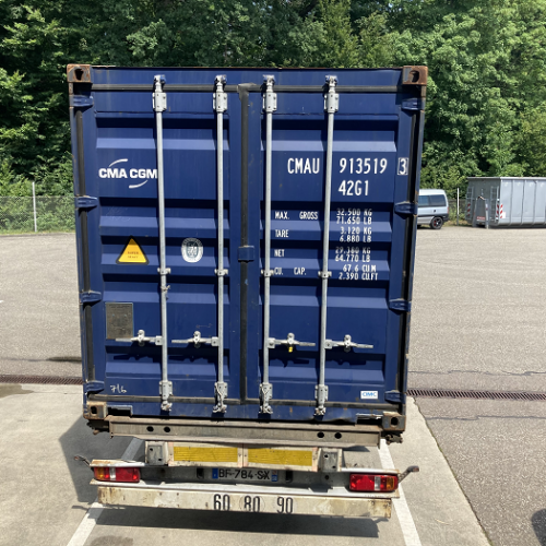 Container-Beladung am 26.06.2020